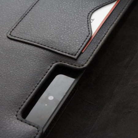 Snugg Leather Wallet Pouch for Microsoft Surface 2 - Black
