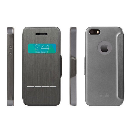 purchase cheap 7494e 7515b Moshi SenseCover for iPhone 5S / 5 - Steel Black