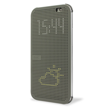 official htc one m8 m8s dot view case grey the