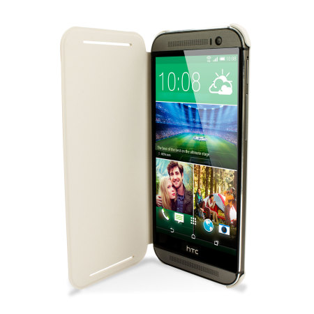 Block: Puts official htc one m8 flip case white but are