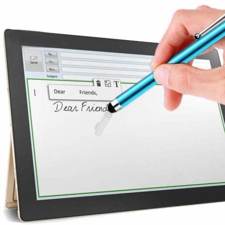 PlayFect Smart Stylus Anti Scratch Pen Twin Pack Set - Green & Blue