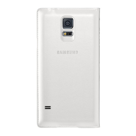 Official Samsung Galaxy S5 Flip Wallet Cover - White
