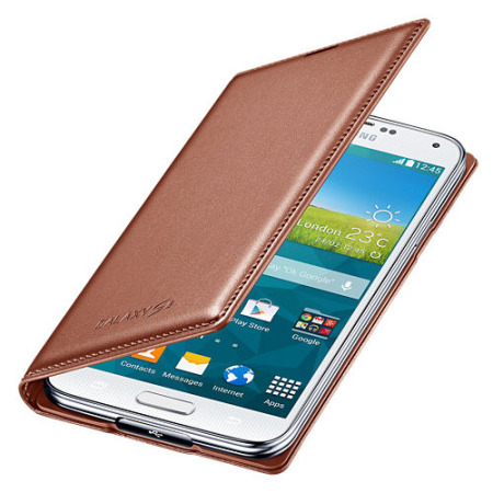 Official Samsung Galaxy S5 Flip Wallet Cover - Rose Gold