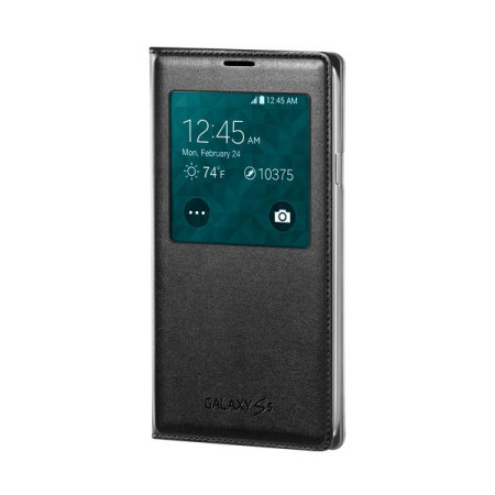 44068 Official Samsung Galaxy S5 S View Wireless Charging Cover Black