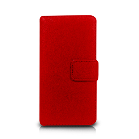 Orzly Multi-Functional Wallet Case for Xperia Z1 Compact - Red
