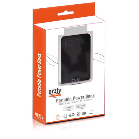 Orzly Portable 4050mAh Power Bank - Black