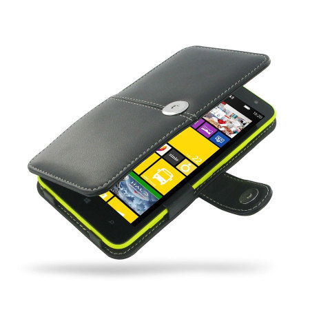 check out 9c9a3 6f3ba Pdair Leather Book Type Case for Nokia Lumia 1320 - Black