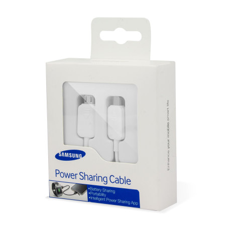 Official Samsung Galaxy S5 Power Sharing Cable - White