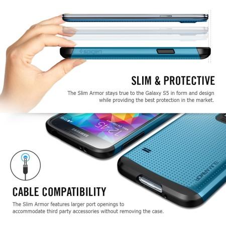 Spigen SGP Slim Armor Case for Samsung Galaxy S5 - White