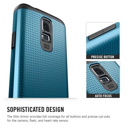 Spigen SGP Slim Armor Case for Samsung Galaxy S5 - Blue
