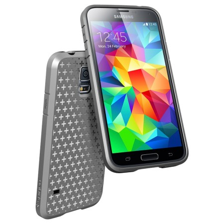 low priced 81dfd 1a4a8 Spigen Ultra Fit Capsule Case for Samsung Galaxy S5 - Grey