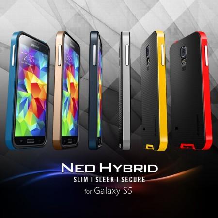 Spigen SGP Neo Hybrid Case for Samsung Galaxy S5 - Yellow