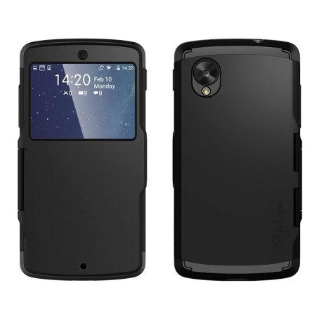 Spigen Slim Armor View Case for Google Nexus 5 - Smooth Black