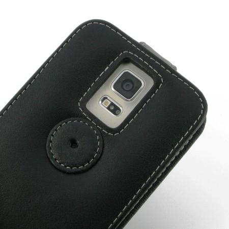 PDair Leather Flip Top Samsung Galaxy S5 Case - Black