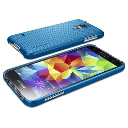92b93258f2d Funda Samsung Galaxy Galaxy S5 Spigen Ultra Fit - Azul Eléctrico