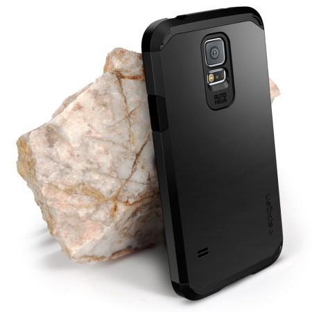 brand new b4f18 6c3d3 Spigen Tough Armor Case for Samsung Galaxy S5 - Black
