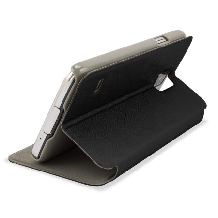 Pudini Samsung Galaxy S5 Flip and Stand Case - Black