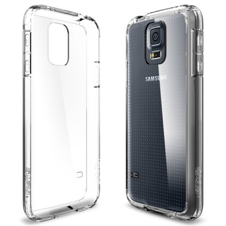 new style c1cf7 afb7b Spigen Ultra Hybrid Case for Samsung Galaxy S5 - Crystal Clear