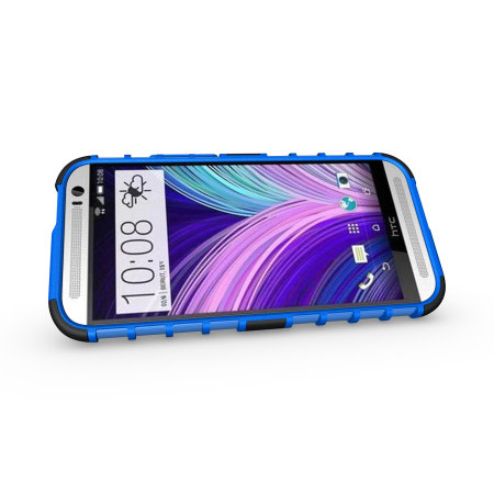 ArmourDillo Hybrid Protective Case for HTC One M8 - Blue