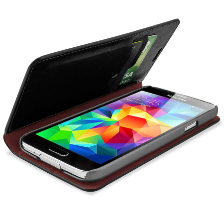 huge discount 006fd 5e8e2 Olixar Leather-Style Samsung Galaxy S5 Wallet Case - Black