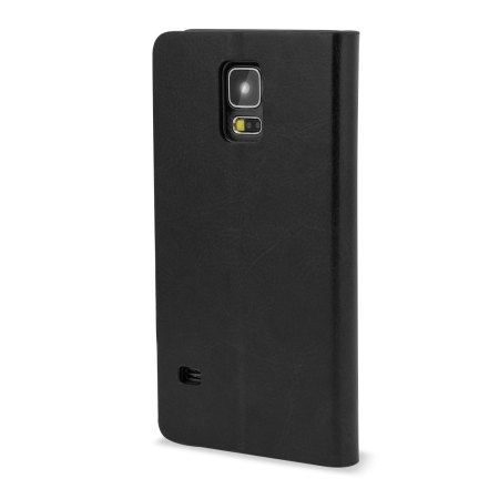 smartphones leather style wallet case for samsung galaxy s5 black punishing