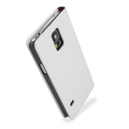 samsung galaxy s5 white case. adarga leather-style wallet case for samsung galaxy s5 - white g