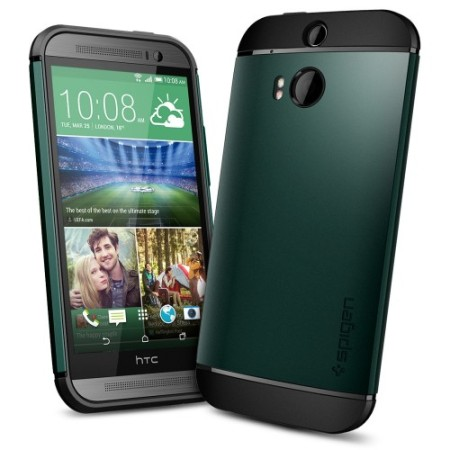 Spigen Slim Armor HTC One M8 Case - Aintree Green