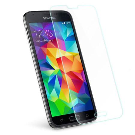 olixar samsung galaxy s5 tempered glass screen protector. Black Bedroom Furniture Sets. Home Design Ideas
