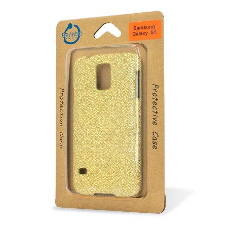 Samsung Galaxy S5 Glitter Case - Gold