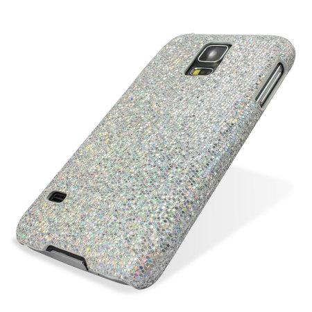 size 40 f92b6 9a1c9 Samsung Galaxy S5 Glitter Case - Silver