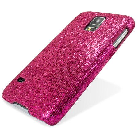 Samsung Galaxy S5 Glitter Case - Magenta