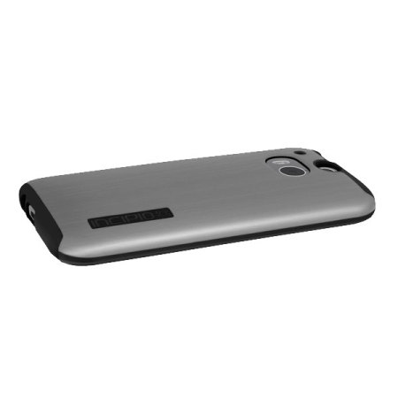 factory price c90d5 7f056 Incipio DualPro Shine HTC One M8 Case - Silver / Black