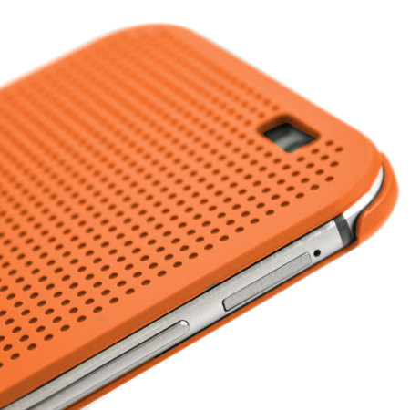 Official HTC One M8 / M8s Dot View Case - Orange Popsicle