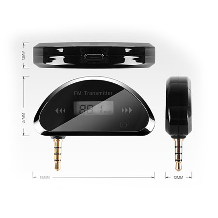 FreSOUND Car Audio FM Transmitter for Smartphones and Tablets