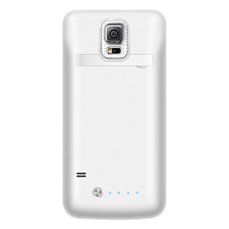 buy popular 24a98 50080 Samsung Galaxy S5 Power Bank Flip Case - White