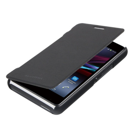 Roxfit Sony Xperia E1 Book Flip Case  - Nero Black