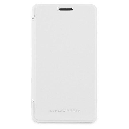 Roxfit Sony Xperia E1 Book Flip Case  - White