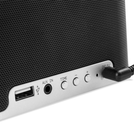qi tone s1 alarm clock bluetooth speaker with qi charging black. Black Bedroom Furniture Sets. Home Design Ideas