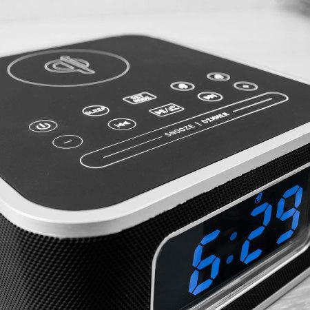 Olixar Qi-Tone S1 Alarm Clock Bluetooth Speaker with Qi Charging