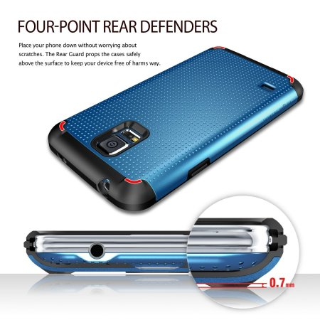 Rearth Ringke Samsung Galaxy S5 Heavy Duty Armor Case - Blue