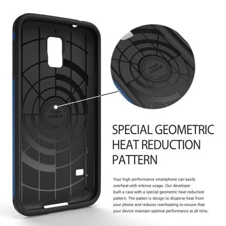 Rearth Ringke Samsung Galaxy S5 Heavy Duty Armor Case - Gold