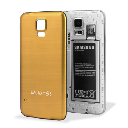7efbe98b592 Tapa Trasera Aluminio Pulido para el Samsung Galaxy S5 - Oro