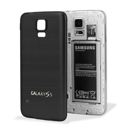 premium selection 96b5e 30c64 Replacement Aluminium Metal Samsung Galaxy S5 Back Cover - Black