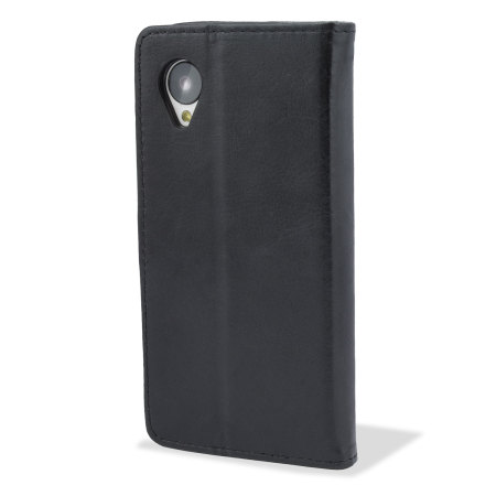 Adarga Wallet Nexus 5 Stand Case with Smart Function  - Black