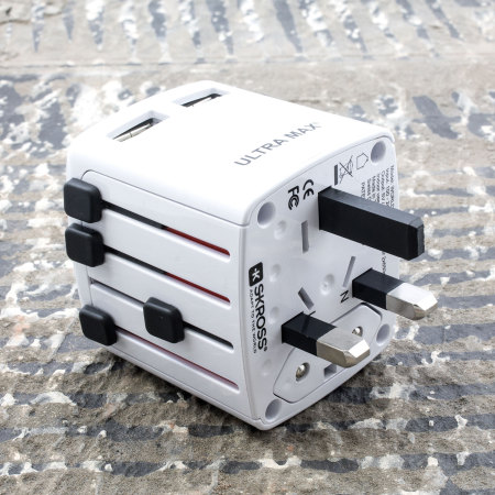 SKROSS Ultra Max Dual USB World Travel Power Adapter