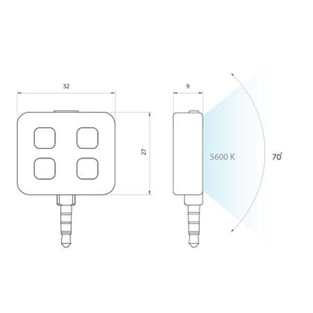 Flash LED pour Appareils Apple et Android iblazr - Noir