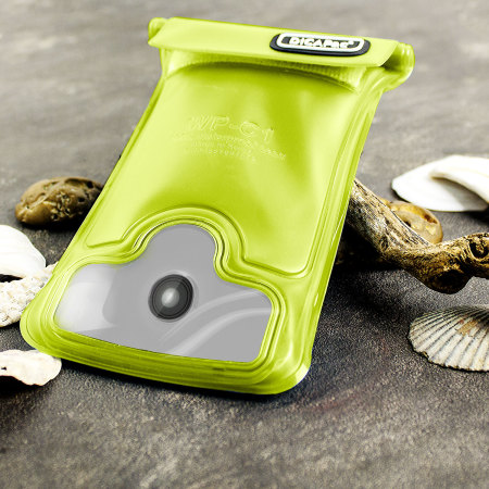 """DiCAPac Universal Waterproof Case for Smartphones up to 4.8"""" - Green"""