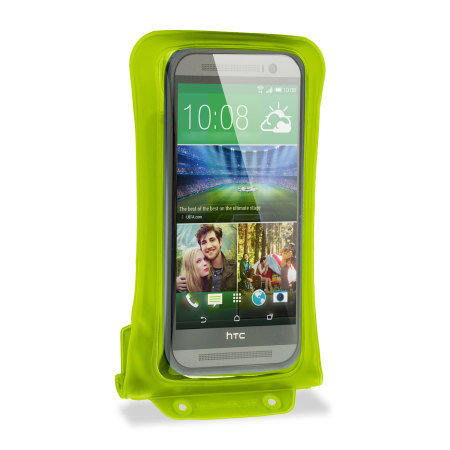 """dicapac universal waterproof case for smartphones up to 5 7"""" green how set google"""
