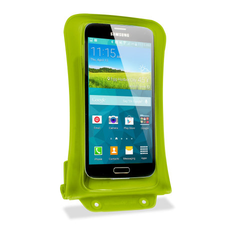 """the iPhone dicapac universal waterproof case for smartphones up to 5 7"""" green new"""