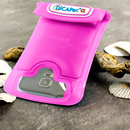 """DiCAPac Universal Waterproof Case for Smartphones up to 5.7"""" - Pink"""